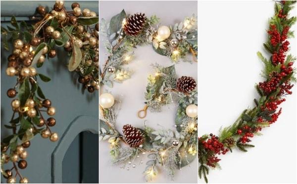 unique garlands in christmas design