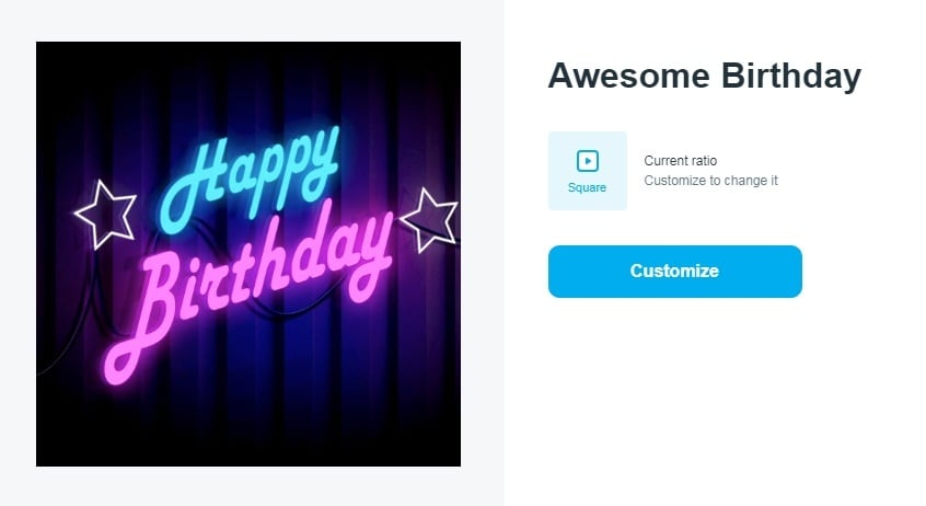 awesome birthday video template