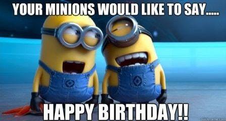 birthday minion meme
