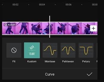 edit custom curve capcut