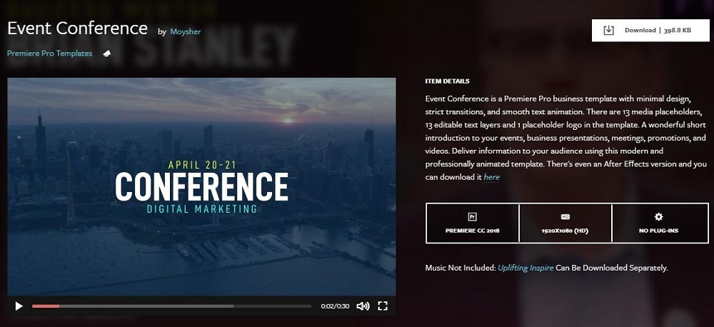 event conference slideshow