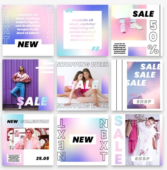 fashion puzzle template ig