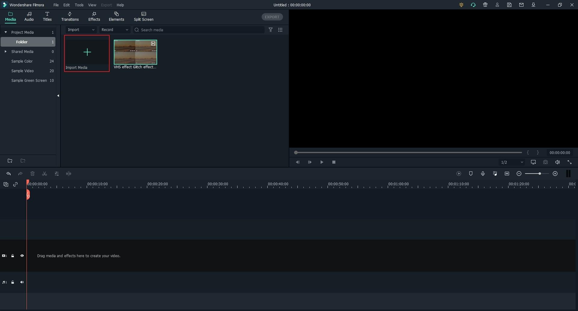 import media files to filmora