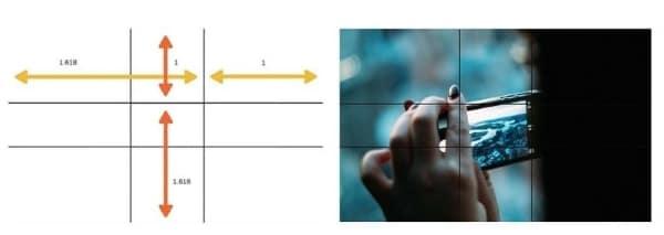 golden ratio in image