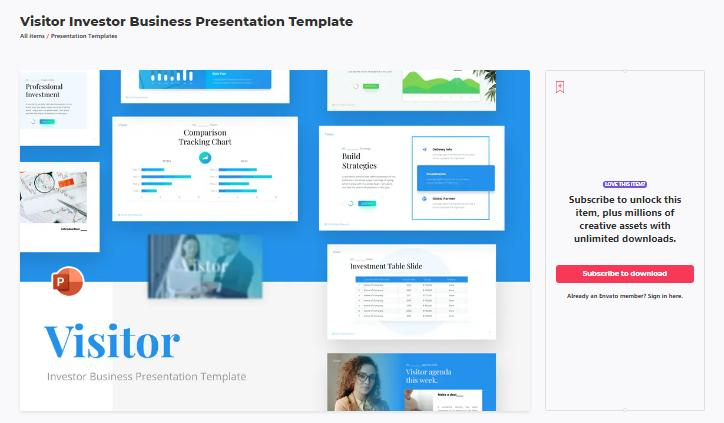 investor business template