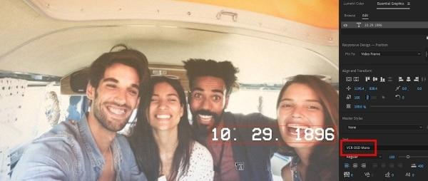 add date in the video