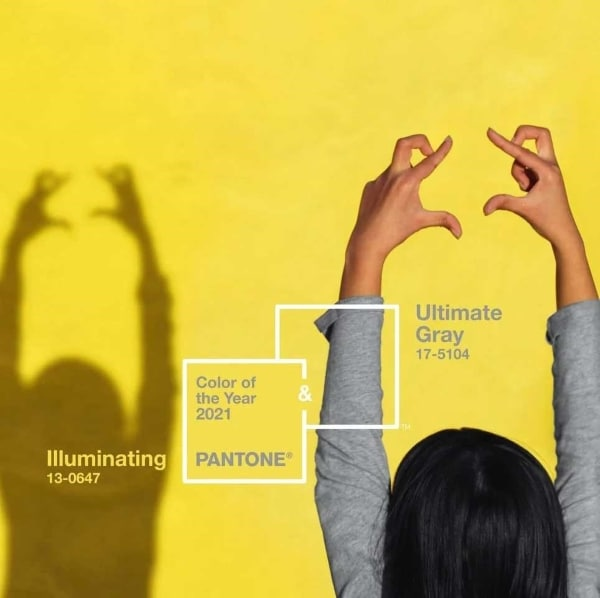 grey and yellow pantone colors of the year