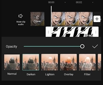 select overlay types capcut