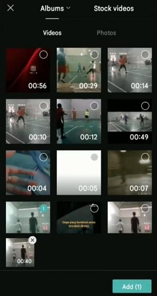 select the video to blur