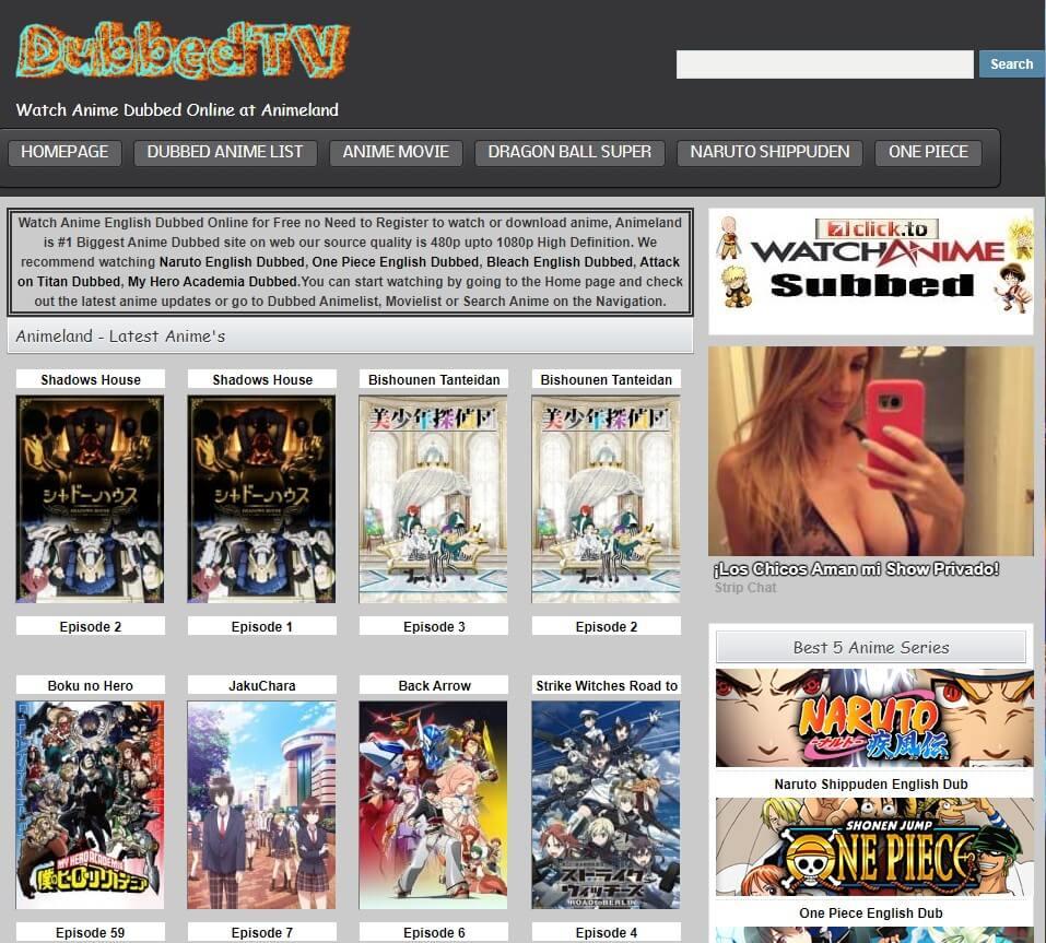animeland dubbed sites