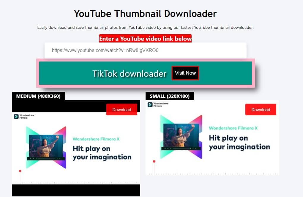 descargador de miniaturas de youtube