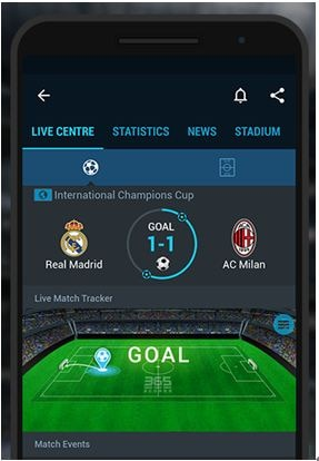 365 Scores free sports streaming app
