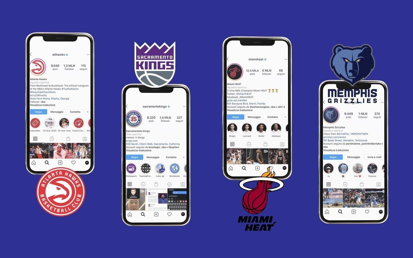 franquicias de la NBA en reels