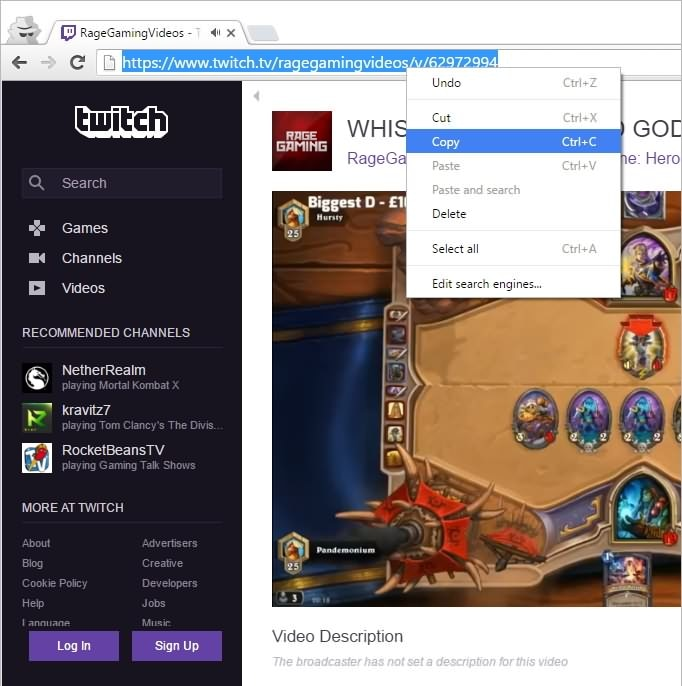 Twitch Video download