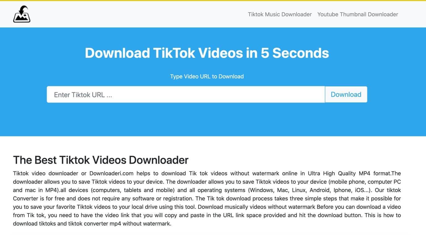 downloaderi tiktok video