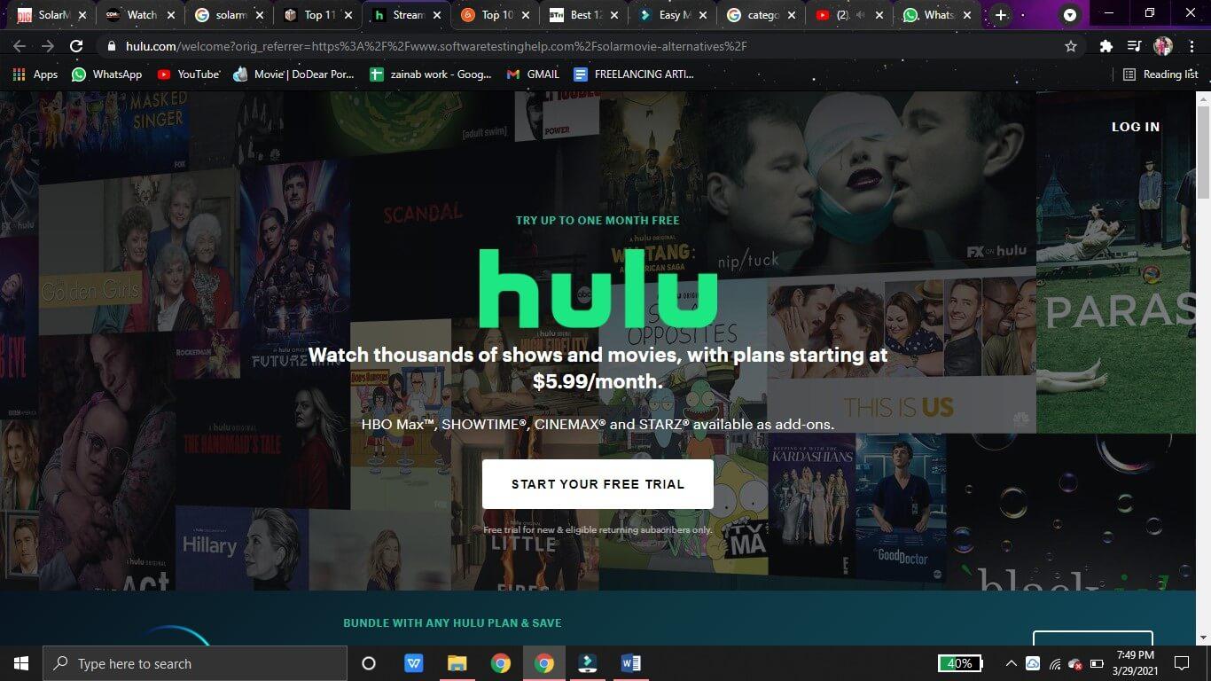 hulu watch movie