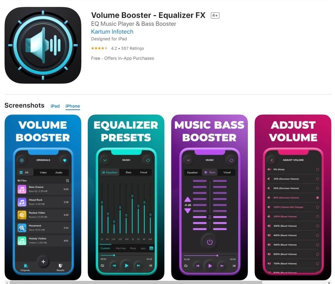 equalizer volume booster
