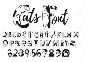 pet fonts