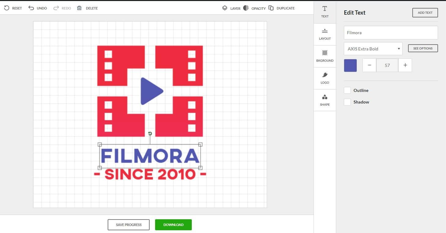 BrandCrowd logo maker editing interface