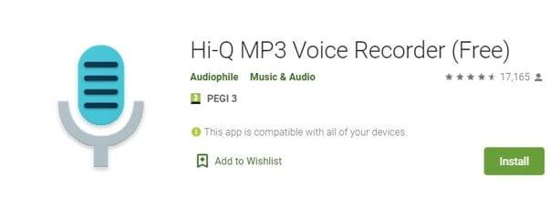 Vocie Recorder App for Android - Hi-Q MP3 Voice Recorder