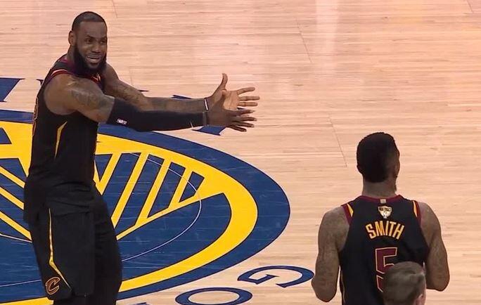 La reazione della finale NBA di LeBron James