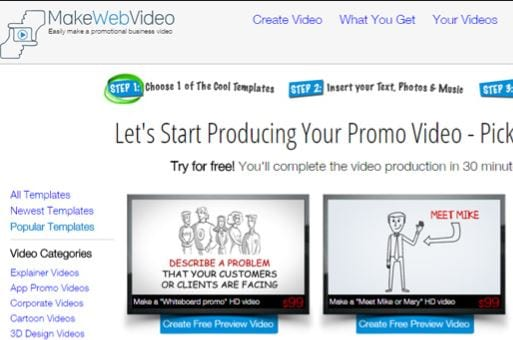 Make Web Video logo animation maker