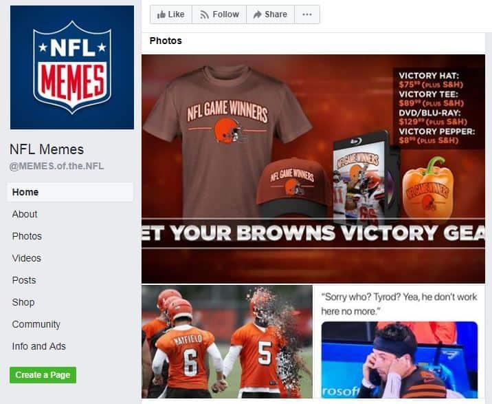 NFL Memes facebook