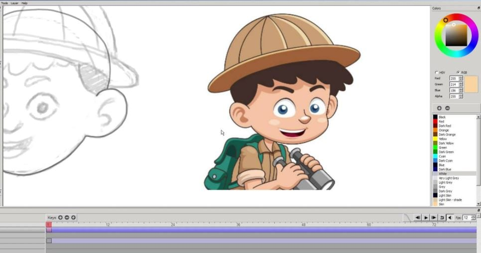 free animation software Pencil2D