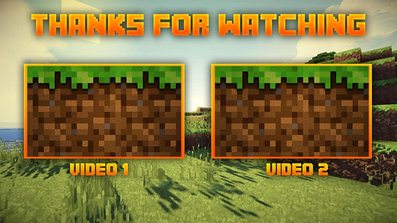SoapyEdits YouTube end screen template Minecraft