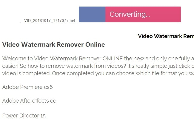 Remove Watermark in video online