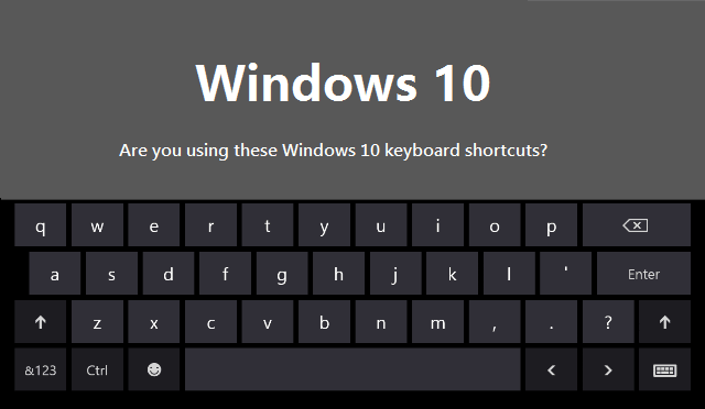 Neue Tastatur-Shortcuts von Windows 10