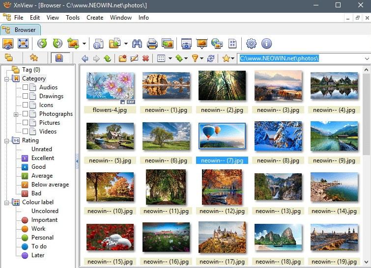 XnView Windows 10 photos alternative