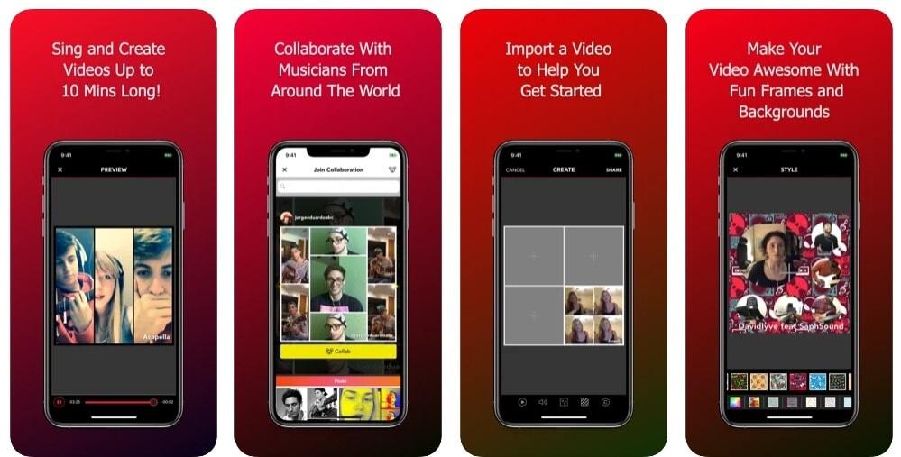 Split Screen Video Making App - Acapella
