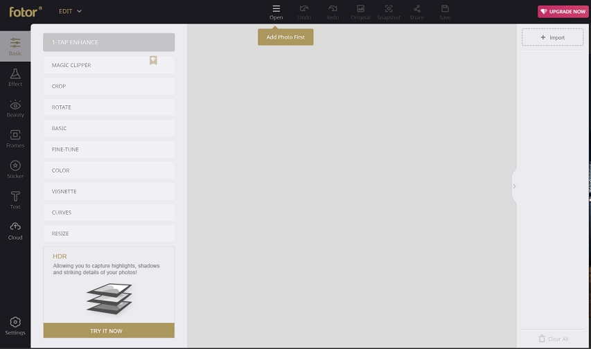 access the edit tab