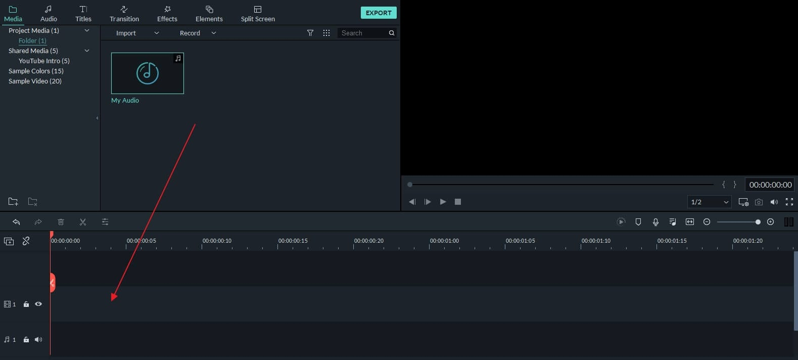 add audio to timeline Filmora9