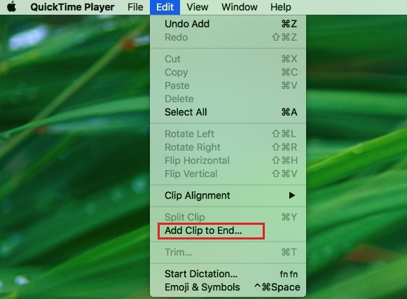 quicktime add clip