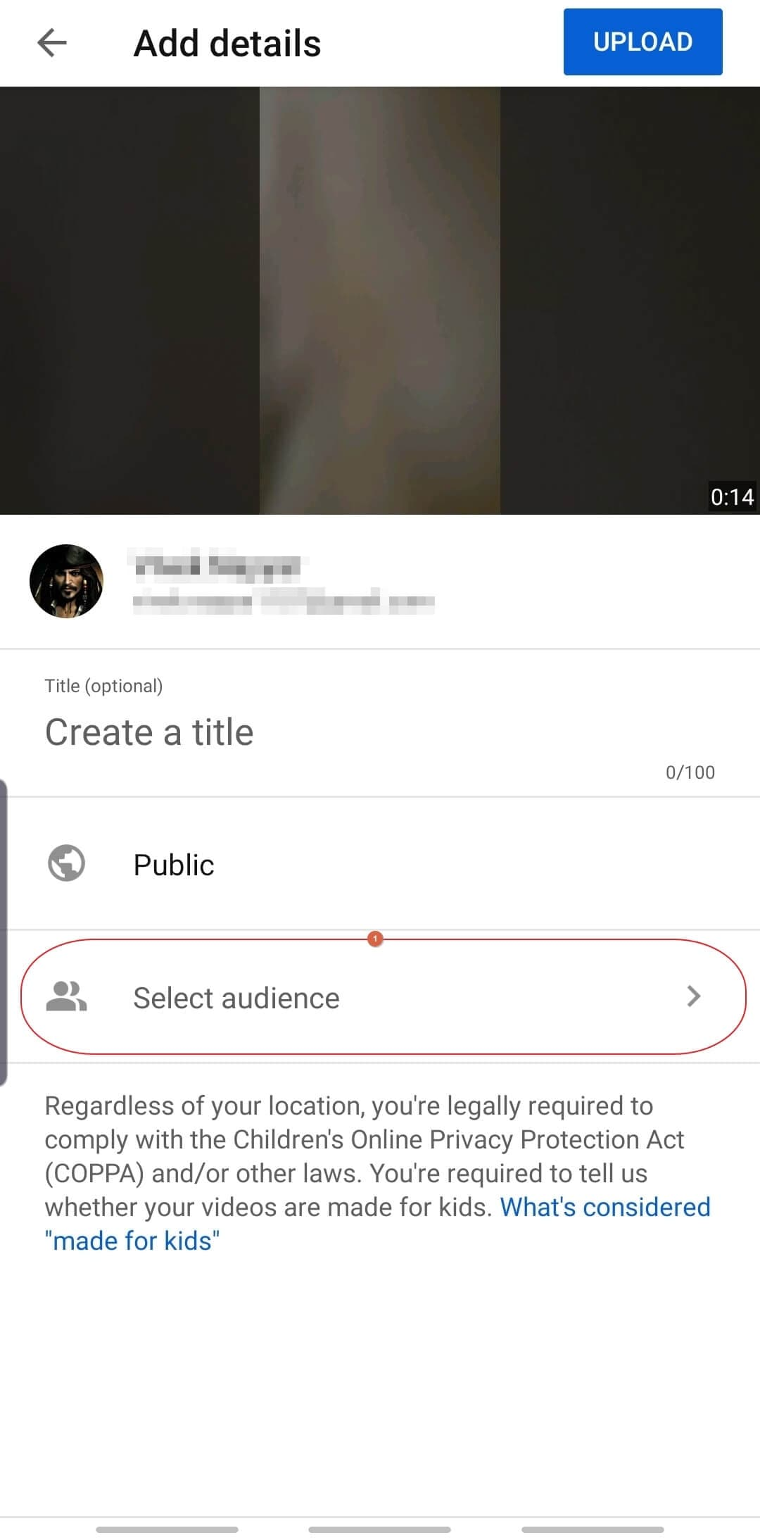 Upload YouTube Shorts video - add details