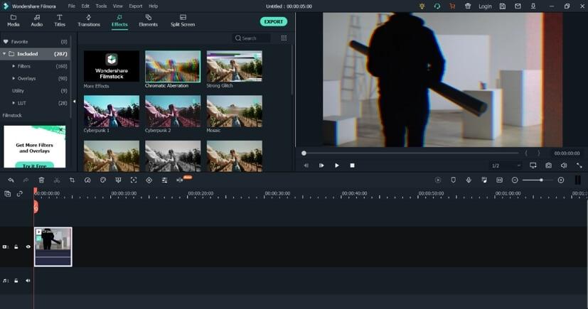 Add effects  in Filmora