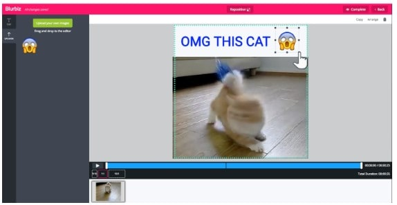 add emojis to videos online