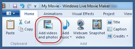 import video file
