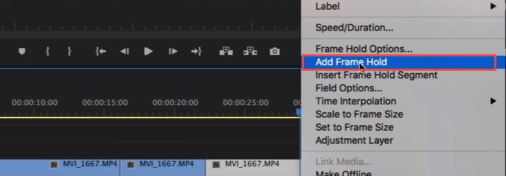 How To Create Freeze Frame In Adobe Premiere Pro 2019