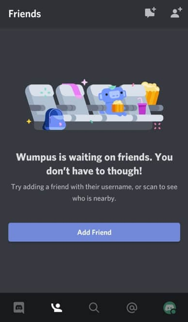 add friends on Discord mobile