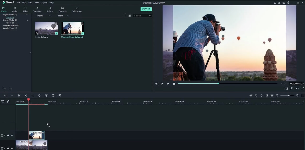 add image overlay to video Filmora9