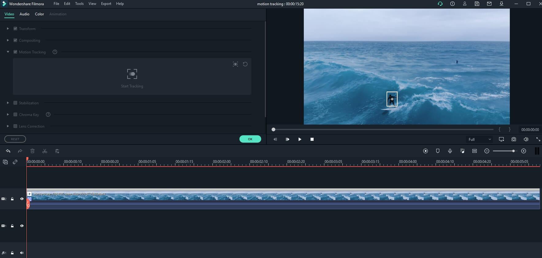 Filmora Motion Tracking Box