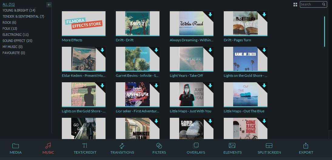 Filmora add new audio track
