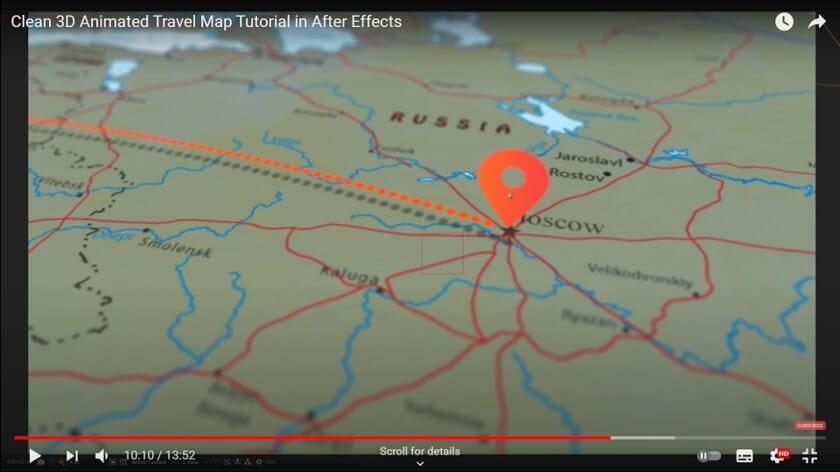 Create map animation in AE - add pin location