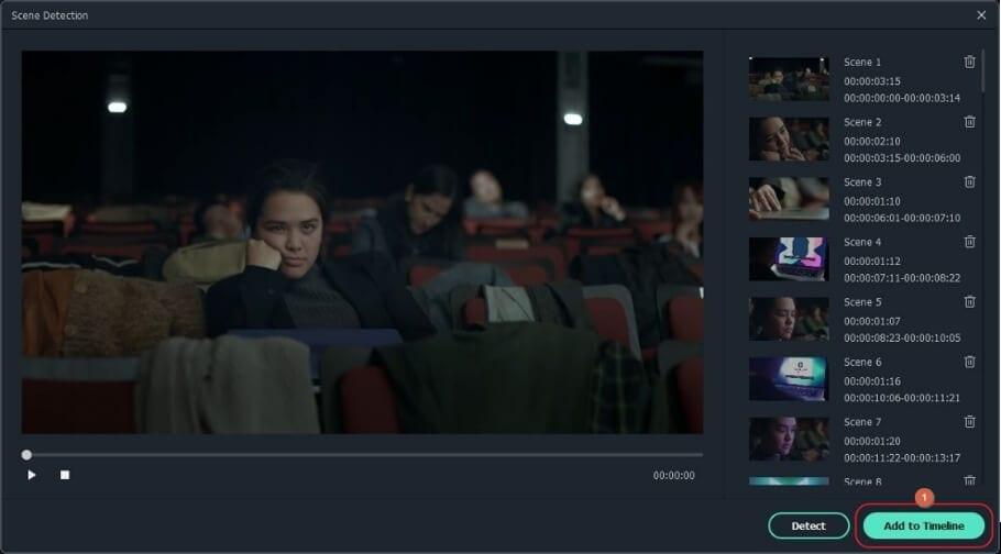 add scene detection highlights