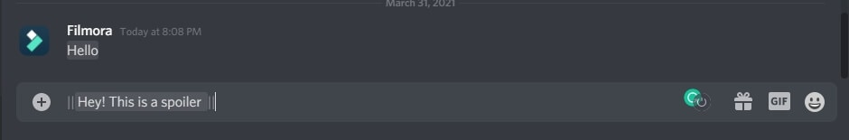 add spoiler tag to Discord