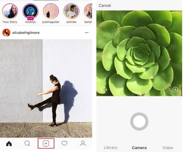 add video instagram