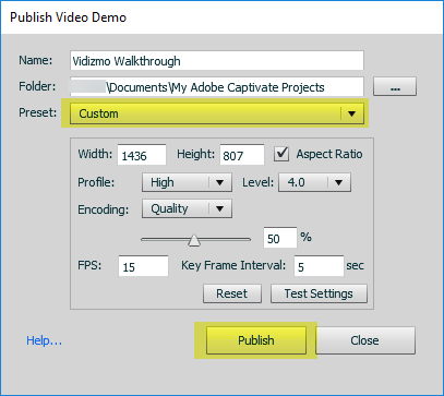 Adobe Captivate Recording Video